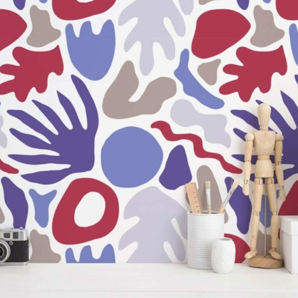 shapes stick and peel wallpaper