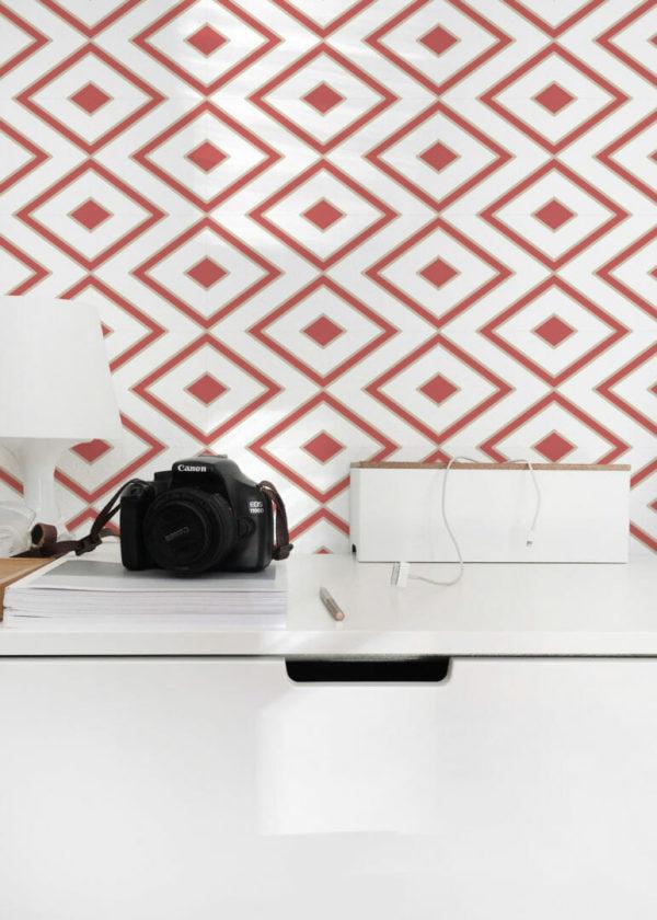 rhombus stick and peel wallpaper