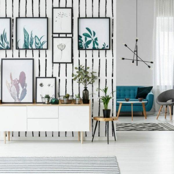 Black and white brush design pattern
