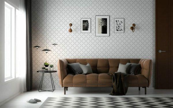 Black and white diamond design pattern
