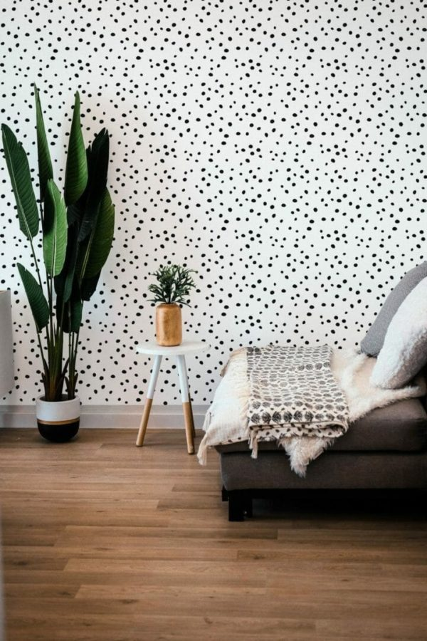 Black and white dotted design pattern