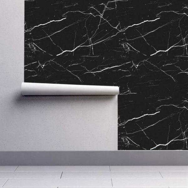 Black marble wallpaper rolls