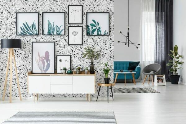 Black splash removable wallpaper