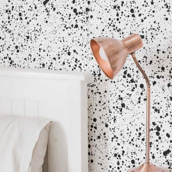 Black splash self-adhesive wallpaper