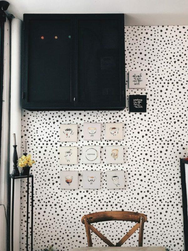 Black tiny dots design pattern