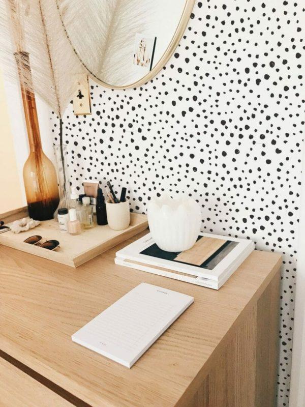Black tiny dots self-adhesive wallpaper