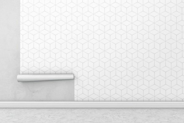 Peel and stick hexagon wallpaper