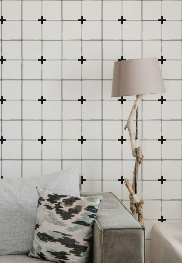 Peel and stick Moroccan tile wallpaper