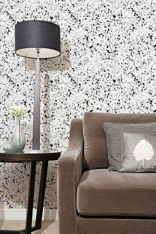 Removable black and white wallpaper
