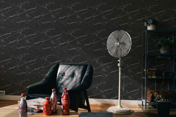Removable black wallpaper