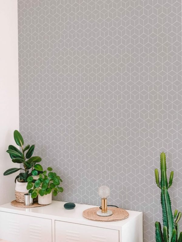 Removable grey wallpaper