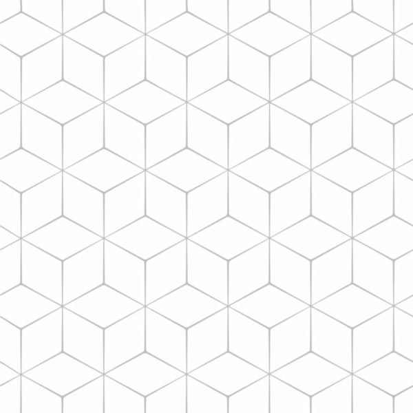 Self-adhesive hexagon wallpaper