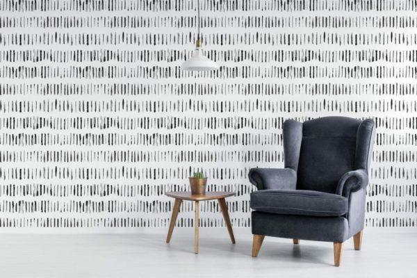 Self-adhesive linear lines wallpaper
