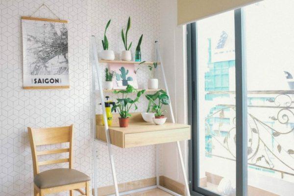 White hexagon removable wallpaper