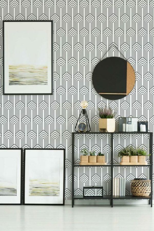 Black and white removable wallpaper