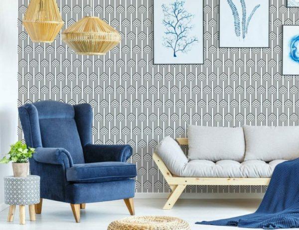 Self-adhesive art deco wallpaper