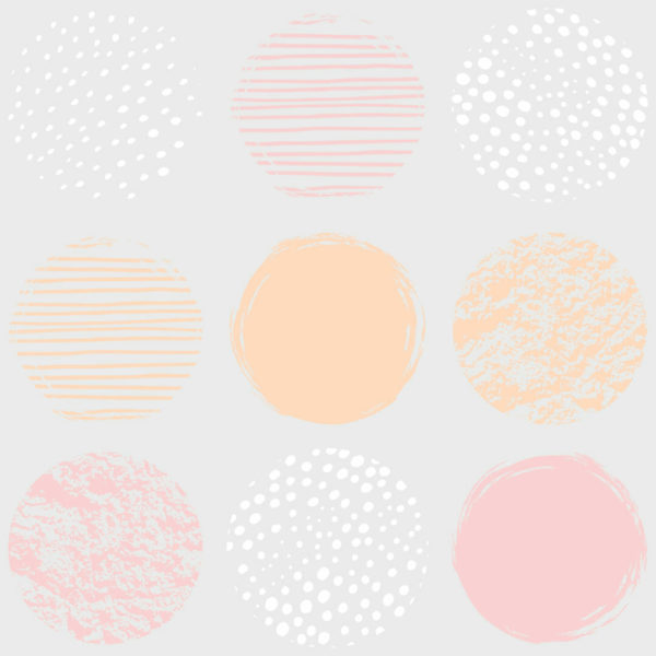 beige and colorfulcircles peel and stick wallpaper