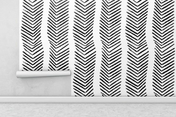 Black and white arrow wallpaper rolls
