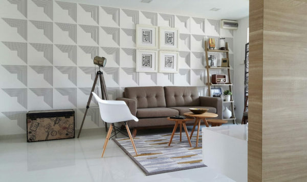 black and white geometricself-adhesive wallpaper