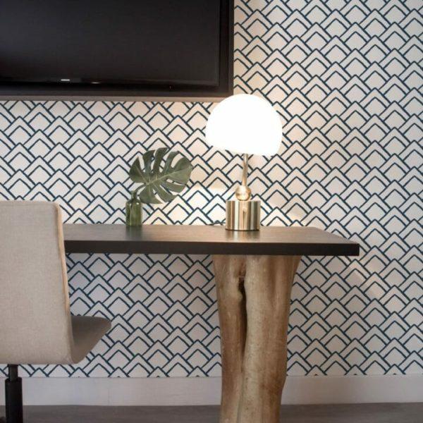 Black and white geometric triangle design pattern