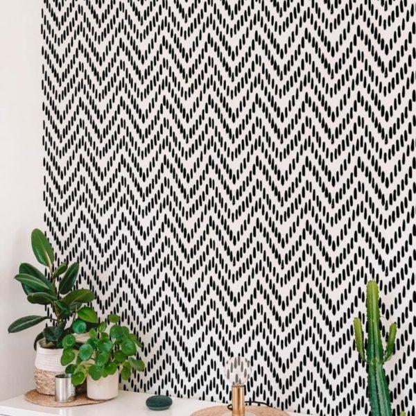 Black ad white herringbone design pattern