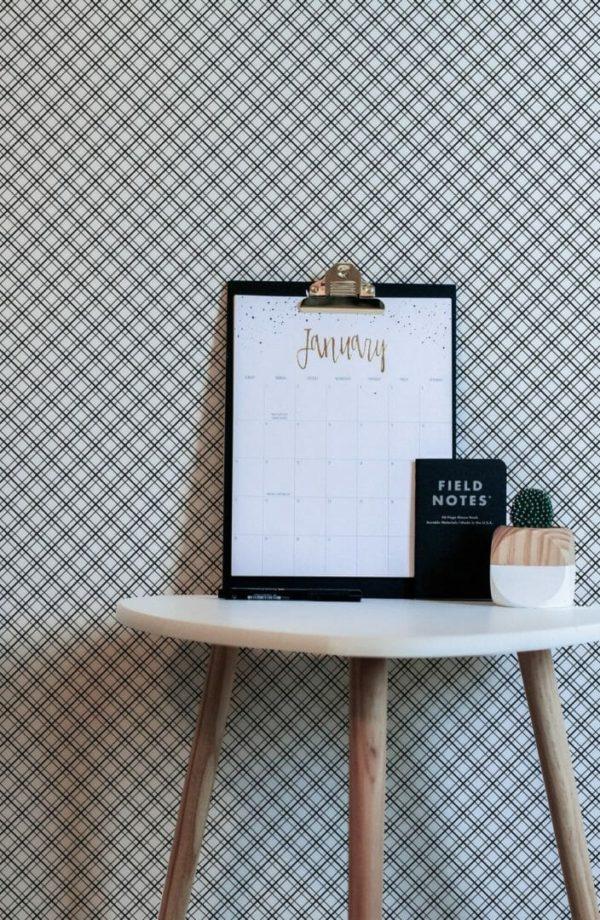 Black and white mesh design pattern