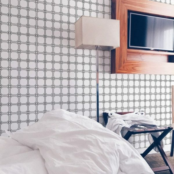 Black and white mosaic tiles removable wallpaper
