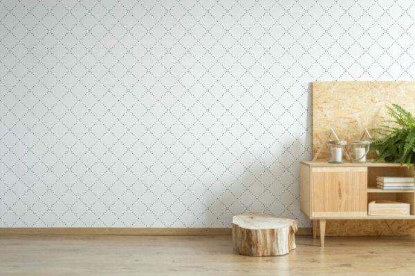 Black geometric diamond peel and stick wallpaper