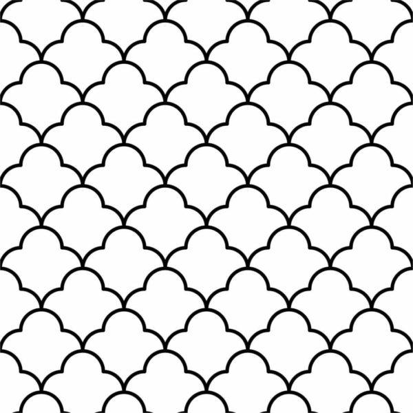 Black Moroccan lattice wallpaper