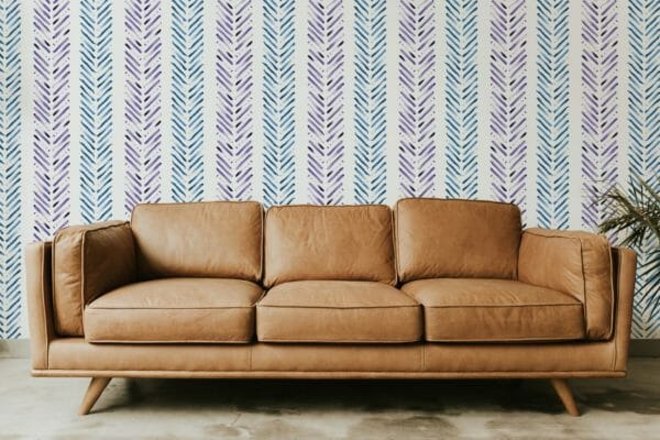 Blue and purple Herringbone design pattern