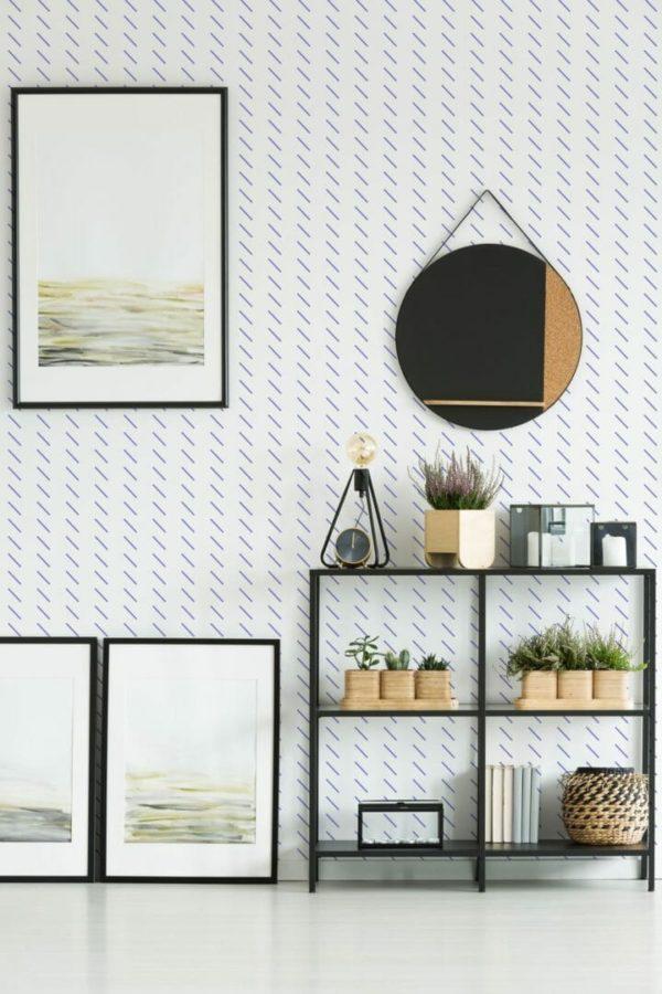 Blue short stripes design pattern