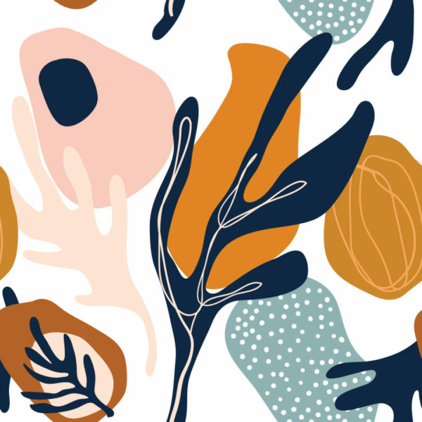 colorful abstract floral peel and stick wallpaper