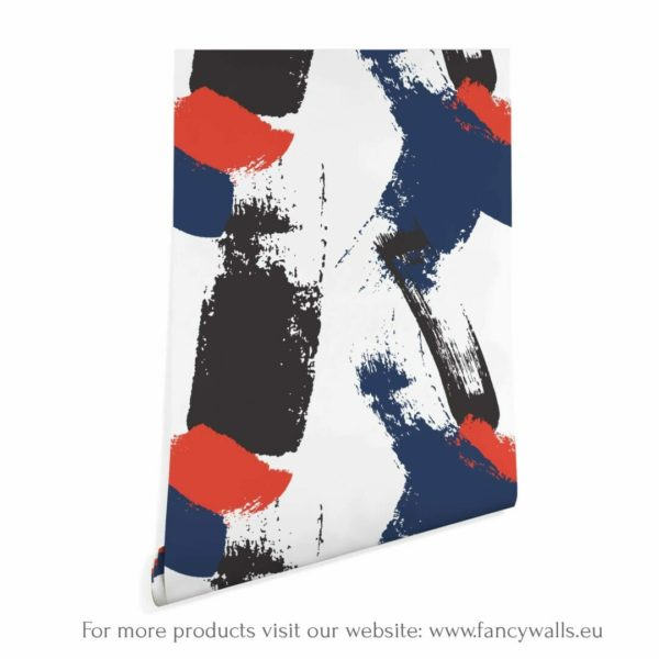 colorful abstract peel and stick wallpaper