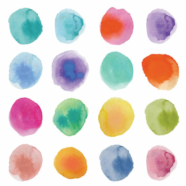colorful circles peel and stick wallpaper