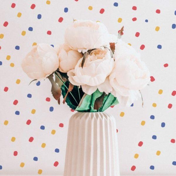 Colorful Polka dots self-adhesive wallpaper