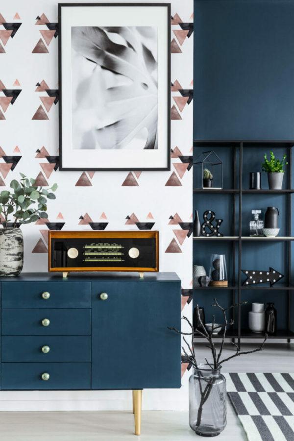 colorful triangle self-adhesive wallpaper