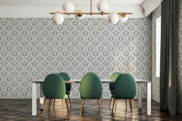 Grey and white abstract design pattern