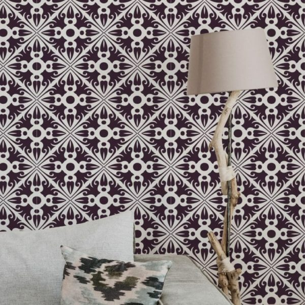 Peel and stick arabesque wallpaper