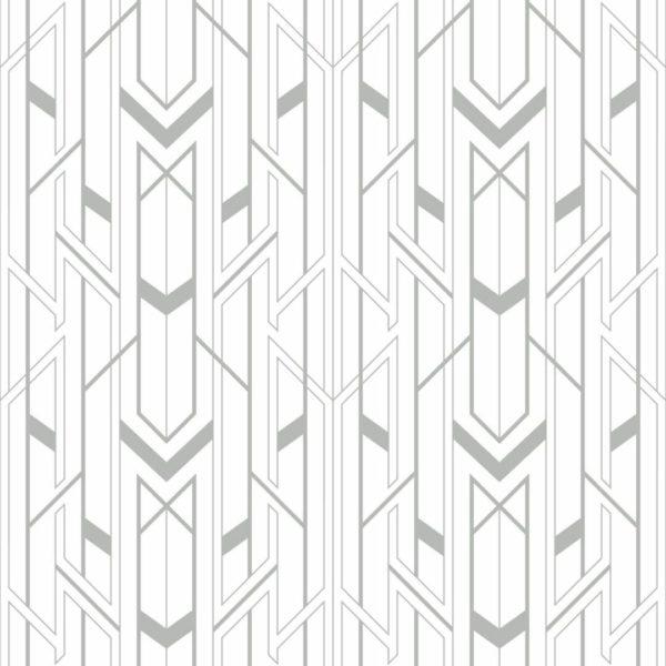 Peel and stick Art Deco wallpaper