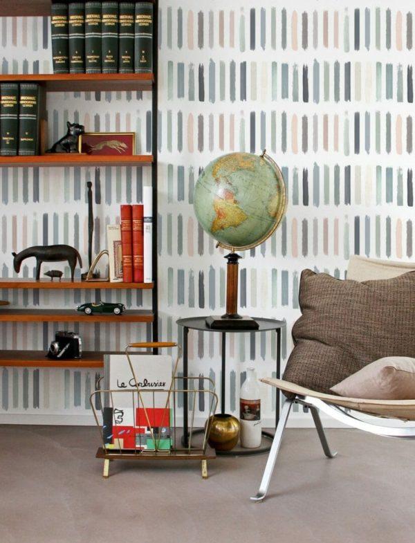 Peel and stick brush strokes wallpaper
