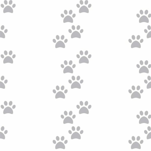 Peel and stick dog paw wallpaper