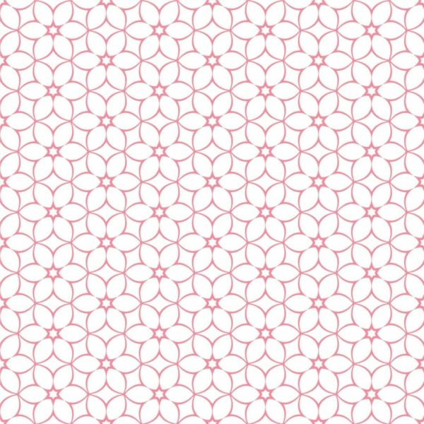 Peel and stick geometric floral wallpaper
