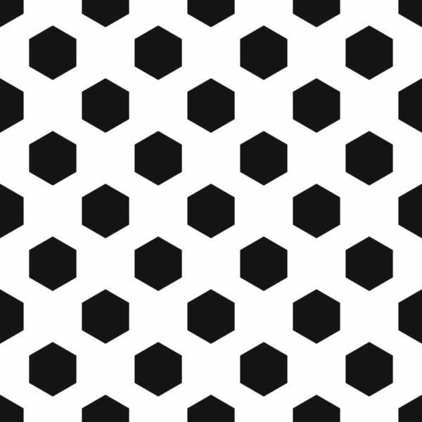 Peel and stick hexagon dots wallpaper