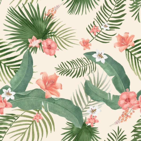 Peel and stick tropical wallpaper