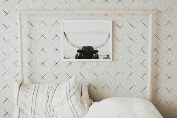 Removable black diamond wallpaper