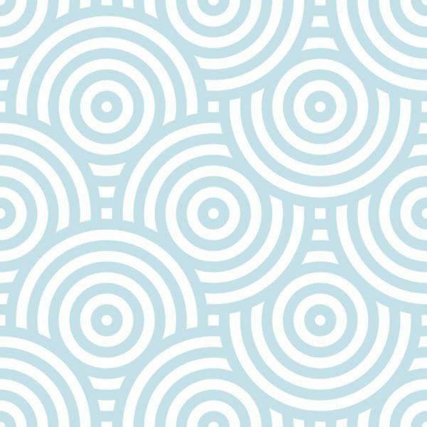 Removable blue wallpaper sample