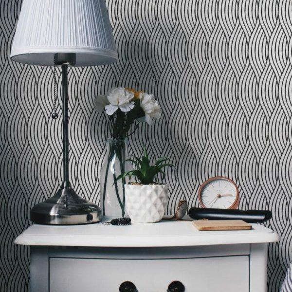 Removable monochrome wallpaper