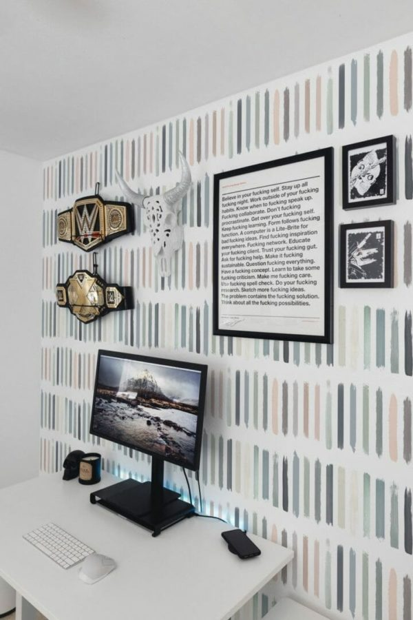 Removable pastel color wallpaper