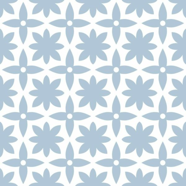 Removable white and blue wallpaper