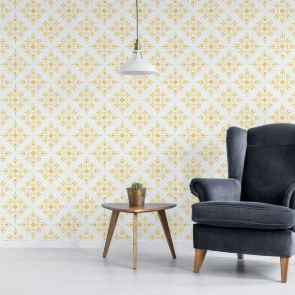 Removable sunny yellow wallpaper